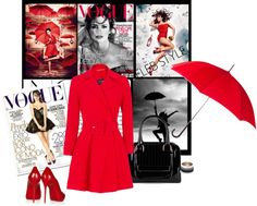 """""""Penelope walking in Red"""" by sherry7411 ❤ liked on Polyvore"""