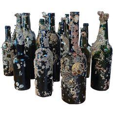 sunken treasure - barnacle encrusted bottles