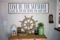 Live in the Sunshine 4'x1' Wood Sign