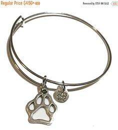 Hey, I found this really awesome Etsy listing at https://www.etsy.com/listing/350507404/octobersale-dog-paw-print-bangle-paw