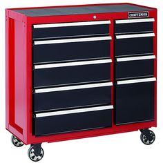 craftsman 40inch allsteel ninedrawer rolling tool cabinet