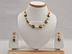 Light weight emerald pearls beads jewellery