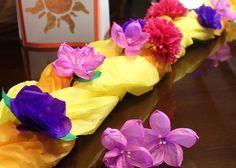 Tissue paper rapunzel braid