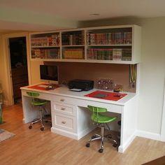 Two-person Desk Design Ideas, Pictures, Remodel, and Decor