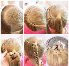 Cute Bun Hairstyles for Girls – Our Top 5 Picks for School or Play Half Crown Lace Braid Cute Bun Hairstyles, Cute Hairstyles For Kids, Dance Hairstyles, Braided Hairstyles, Hairstyles Pictures, Trendy Hairstyles, Hairstyles 2016, Creative Hairstyles, School Hairstyles