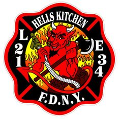 FDNY L21 Firefighter Decals, Fire Equipment, Hells Kitchen, Pin Logo, Patches, Company Logo, Fire Fighters, Pride, Bob