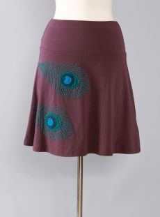 Peacock A-line skirt by Synergy Organic Clothing