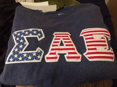 SAE American flag letters