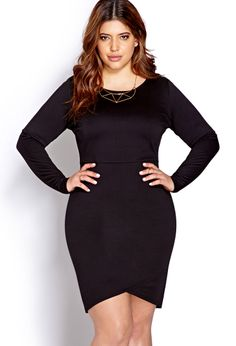 Subtle Asymmetrical Bodycon Dress | FOREVER21 PLUS - 2000073956