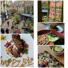 What an amazing lunch treat it was to celebrate @wildfoodcafe today  what a place - what amazing vegan food - what amazing people - what an amazing philosophy and ethos - just amazing!!! Feeling oh so verry blessed and inspired!