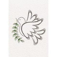 Stitching Cards Dove of peace