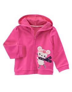 """Gymboree """"Fair Isle Flurry"""" Skating Mouse Hoodie Color: Polar Pink"""