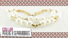 Como hacer collar en perlas con herrajes dorados | VARIEDADES CAROL - YouTube