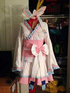 Sylveon Kimono Dress by APlushWonderland on Etsy