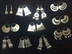 Chaway-JOYAS MAPUCHES PARA TU MATRIMONIO Stone Jewelry, Metal Jewelry, Jewelry Art, Jewelry Design, Fashion Jewelry, Vintage Silver Jewelry, Vintage Wedding Jewelry, Tribal Jewelry, Bohemian Jewelry
