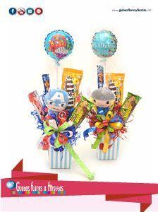 Globos, Flores y Fiestas Candy Bouquet, Birthday Candles, Digital Marketing, Room Decor, Gifts, Special Gifts, Girls Girls Girls, Gift Boxes, Decorated Binders