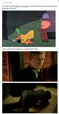 Sherlock: *clueing for looks* John: *deducing arse* <<< REPINNING FOR THAT COMMENT OH MY GOD