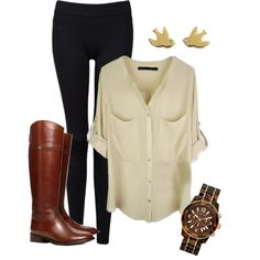 """""""Simple, classic, chic fall fashion."""" by chaitealattte on Polyvore"""
