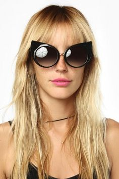 Crookshanks Oversized Curved Cat Ear Sunglasses