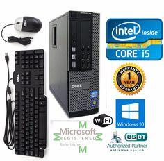 Dell 790 Desktop Computer Intel Core i5 Windows 10 hp 64 120GB SSD 3.1ghz 4gb