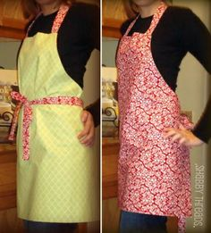 .the simple things.: .diy reversible aprons.