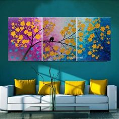 Love the range of color Diy Wall Art, Canvas Wall Art, Wall Decor, Living Room Paint, Living Room Decor, Wow Art, Room Colors, Painting Inspiration, Art Pictures