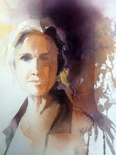Gunnel Moheim  - självporträtt I (Self-portrait)
