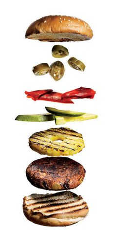 Grilled black bean burgers. The secret ingredient is quinoa. Yummy topping ideas, too.