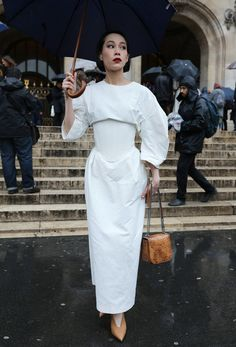Mademoiselle Yulia in a Stella McCartney dress