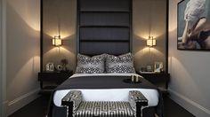 Soft Lit High End Bedroom Interior Design Knightsbridge