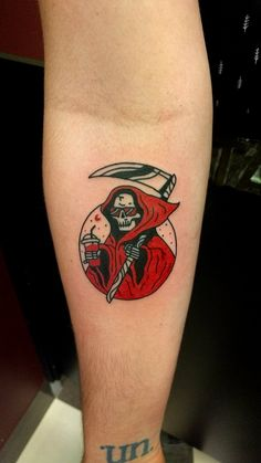 My off duty Grim Reaper done by Ryan @ Gold Coast tattoos, Southport Australia! … – 2020 World Travel Populler Travel Country Dope Tattoos, Mini Tattoos, Spooky Tattoos, Body Art Tattoos, Small Tattoos, Tattoos For Guys, Sleeve Tattoos, Tatoos, Skeleton Tattoos