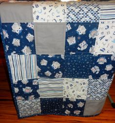 Owl Themed Baby Quilt & Crib Sheet Set,  Navy Blue, White, Gray, Baby Quilt, Toddler Quilt, Gender Neutral with matching Crib Sheet