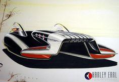 Rendering from the mid-twentieth century house of Harley Earl designs, General Motors