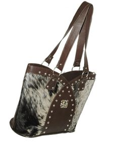 5bbc1fae4a26 Cowhide Real Leather Large Western Rodeo Ladies Hand Bag LHB-14   LeatherWorldPointCom  ShoulderBag