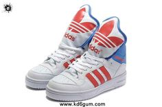 Adidas X Jeremy Scott Big Tongue Shoes White Red Fashion Shoes Store