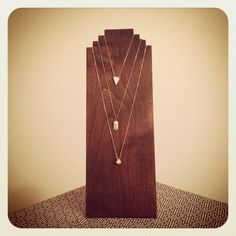Wood Necklace Display | Handmade wood necklace display board.