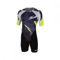 TTSuit ZEROD trifonction tenue de course aéro à manches pour le triathlon hommes, avec fermeture disponible en trois coloris. Article de triathlon