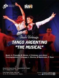 """#Argentinian #Ballet Company - """"Iñaki Urlezaga"""" Alexandria Opera House: 10 & 11 October #Cairo_Opera_House - Main Hall: 13, 14, 15 & 16 October"""