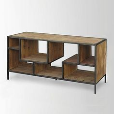I'm like weirdly obsessed with this for a TV console...is that weird? Reclaimed Pine + Iron Storage Console #westelm