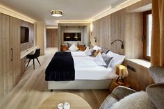 #NEW #SUITE #BERGFEUER furnished with natural materials from #SouthyTyrol  wellnessresort.it