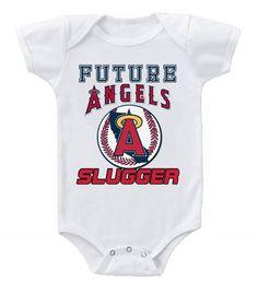 New Cute Funny Baby One Piece Bodysuit Baseball Future Slugger MLB LA  Angels Anaheim  2 a74543fed