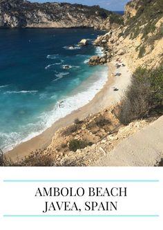 Ambolo Beach in Javea, Spain
