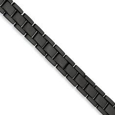 Stainless Steel Polish, Stainless Steel Jewelry, Black Bracelets, Fashion Bracelets, Fashion Jewelry, Mens Link Bracelet, Wholesale Body Jewelry, Titanium Jewelry, Italian Jewelry