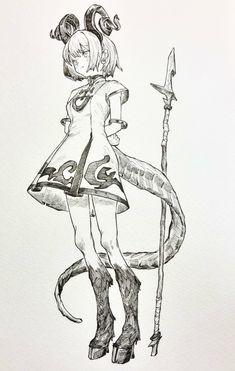 ましまし on in 2019 Anime Sketch, Anime Drawings Sketches, Manga Drawing, Manga Art, Art Drawings, Anime Art, Character Design Cartoon, Fantasy Character Design, Character Design Inspiration