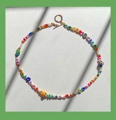 Diy Jewelry Necklace, Seed Bead Jewelry, Bead Jewellery, Cute Jewelry, Beaded Jewelry, Beaded Bracelets, Jewlery, Jewelry Ideas, Making Bracelets