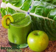 1 cucumber, with peel     3 kiwifruits, peeled     1 apple, cored     3 leaves a Swiss chard, stems removed     8 ounces of unsweetened almond milk