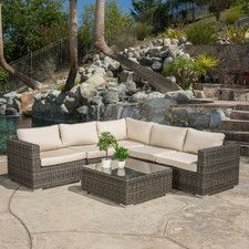 Cancun 6 Piece Seating Group with Cushion
