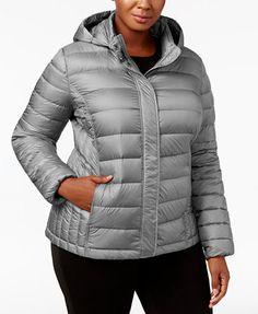 32 Degrees Plus Size Packable Puffer Coat | macys.com