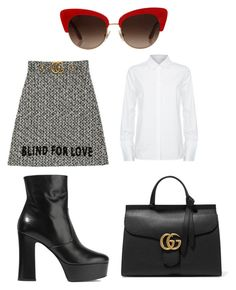 """Gucci Love"" by naomi-s1234 on Polyvore featuring Gucci, Yves Saint Laurent, Victoria, Victoria Beckham and Dolce&Gabbana"