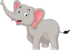 Elephant Cartoon Clip Art, Vector Images & Illustrations - iStock